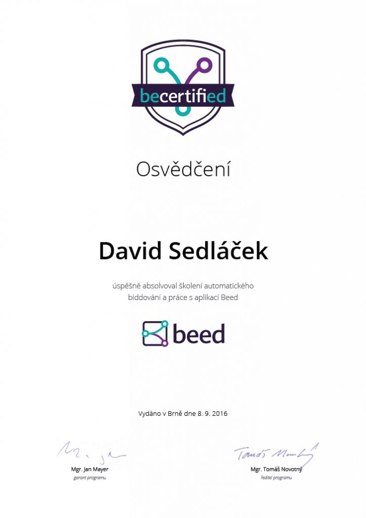 Beed Certifikace