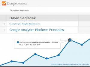 certifikát Google Analytics Platform Principles